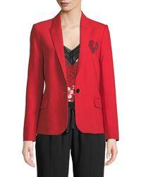 Zadig & Voltaire - Amour Embellished Blazer Jacket - Lyst