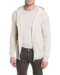 54e1baff3 Lyst - Loro Piana Cotton And Cashmere-blend Zip-up Hoodie in Gray ...