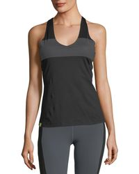 Monreal London - Essential V-neck Reflective Stripe Performance Tank - Lyst