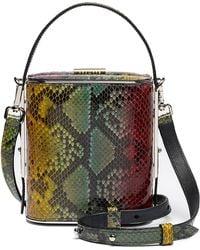 Hayward - Field Python Top Handle Bag - Lyst