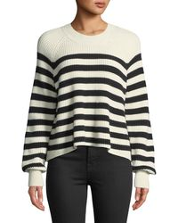 Veronica Beard - Boyd Crewneck Striped Cotton Sweater - Lyst