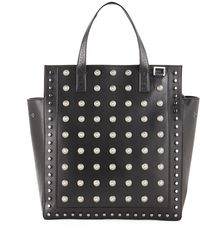 Balmain - Men's Studded Leather Tote Bag - Lyst