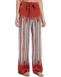 Meng - Striped Silk Pajama Trousers - Lyst