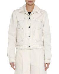 Bottega Veneta - Studded Canvas Jacket - Lyst