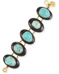 Ashley Pittman - Dark Horn & Turquoise Bracelet - Lyst