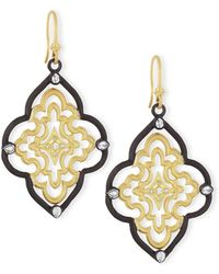 Armenta - Old World Scroll Earrings With Diamonds - Lyst