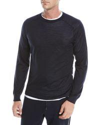 Ermenegildo Zegna - Men's Wool Crewneck Sweatshirt - Lyst
