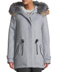 Mackage - Alexa Fox Fur Trim Hooded Coat - Lyst