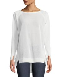 Halston - Bateau-neck Oversized Sweater - Lyst