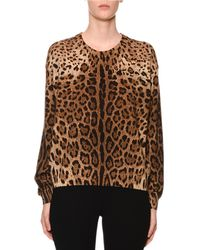 Dolce & Gabbana - Cashmere Leopard-print Crewneck Sweater - Lyst