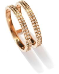 Repossi - Berbere Two-row Diamond Ring In 18k Rose Gold - Lyst