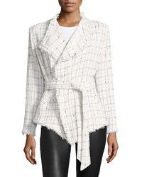 IRO - Quinet Belted Tweed Jacket - Lyst