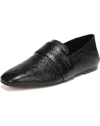 Vince - Harris Crackled Flat Loafers - Lyst