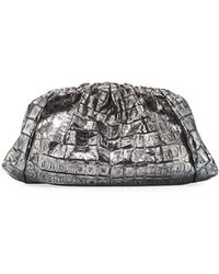 Nancy Gonzalez - Small Rounded Ruched Crocodile Clutch Bag - Lyst