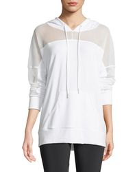Onzie - Hooded Long-sleeve Mesh Pullover - Lyst