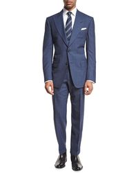 Tom Ford - Windsor Base Double-windowpane Two-piece Suit - Lyst