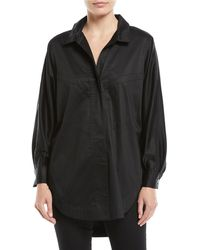 Opening Ceremony - Long-sleeve Button-down Sateen Oversized Shirt - Lyst