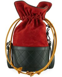 Carven - Suede And Leather Bucket Bag - Lyst