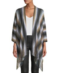 Missoni - Zigzag Wool Fringe-trim Cape - Lyst