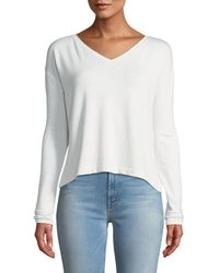 Rag & Bone - Reily Cropped Long-sleeve Top - Lyst