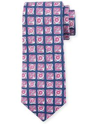 Kiton - Diamond-print Silk-blend Tie - Lyst