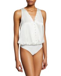Cami NYC - The Lorna Sleeveless Button-front Bodysuit - Lyst