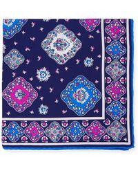 Kiton - Moroccan Silk Pocket Square - Lyst