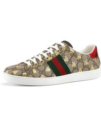 Gucci - GG Canvas Bee Sneakers - Lyst