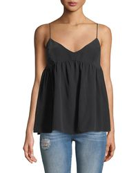 7 For All Mankind - Silk Babydoll Camisole Top - Lyst