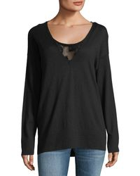 Lafayette 148 New York - Luxurious Lace-inset Jumper - Lyst