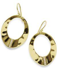 Ippolita 18K Senso Open Wavy Disc Earrings with Diamonds LpDq62ra
