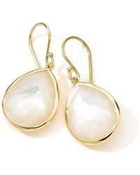 1c7d17c49d8 Ippolita - 18k Gold Rock Candy Medium Mother-of-pearl Teardrop Earrings -  Lyst