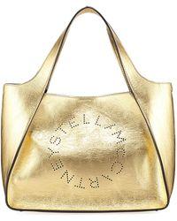 Stella McCartney - Metallic Logo Crossbody Bag - Lyst