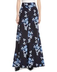 Johanna Ortiz - Dream State High-waist Flared Wide-leg Floral-print Silk Pants - Lyst