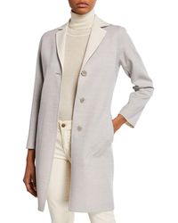 Cinzia Rocca - Luxury Lightweight Wool Coat - Lyst
