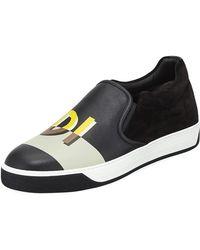 Fendi - Vocabulary Men's Leather Slip-on Skate Sneaker - Lyst