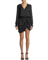 Ramy Brook - Alec Ruched Long-sleeve Mini Dress - Lyst