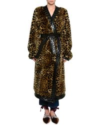 Attico | Animal-print Faux Fur Robe | Lyst
