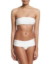 Marie France Van Damme - Rafia Bandeau Two-piece Swimsuit - Lyst