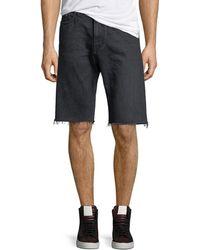 ae26c27127 Saint Laurent - Raw-edge Bermuda Shorts - Lyst