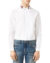 Gucci - Duke Oxford Shirt With Snake - Lyst