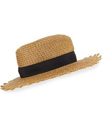 Eric Javits - Squishee Cannes Boater Hat - Lyst
