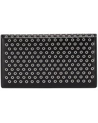 Alaïa - Grommet Leather Flap Wallet - Lyst