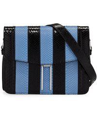 Hayward - Mini Striped Python Crossbody Bag - Lyst