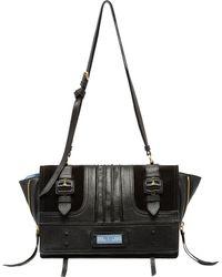7fe29a901d2b Prada - Medium Leather Etiquette Buckle Crossbody Bag - Lyst