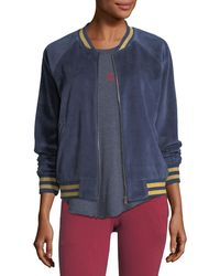 Spiritual Gangster - Beautiful Dreamer Velour Bomber Jacket - Lyst