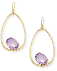 Ippolita - 18k Rock Candy Tipped Oval Wire Earrings In Amethyst - Lyst
