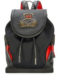 Christian Louboutin - Explorafunk Men's Canvas Flap-top Backpack - Lyst