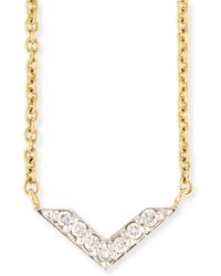 Sydney Evan - Two-tone Diamond Chevron Necklace - Lyst