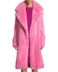 MILLY - Riley Long Faux-fur Coat - Lyst
